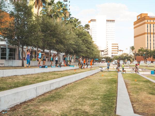 Sehenswürdigkeiten in Tampa: Fitness im Park