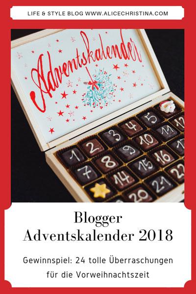 Blogger Adventskalender 2018 - 24 tolle Überraschungen gewinnen