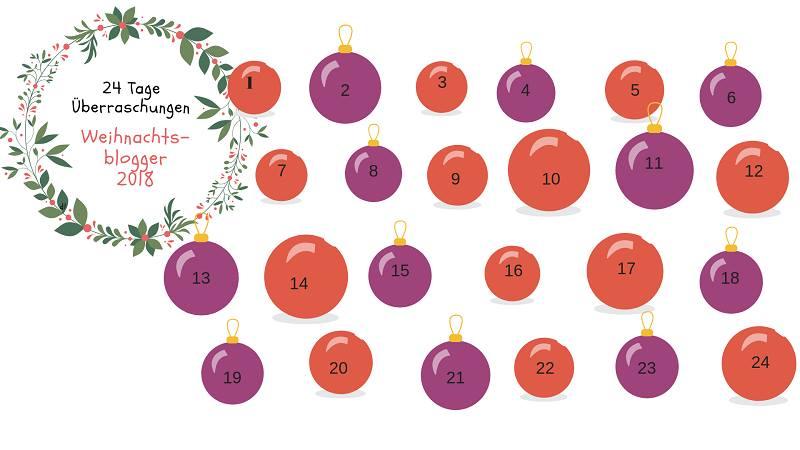 Blogger Adventskalender 2018 - 24 tolle Überraschungen zu gewinnen