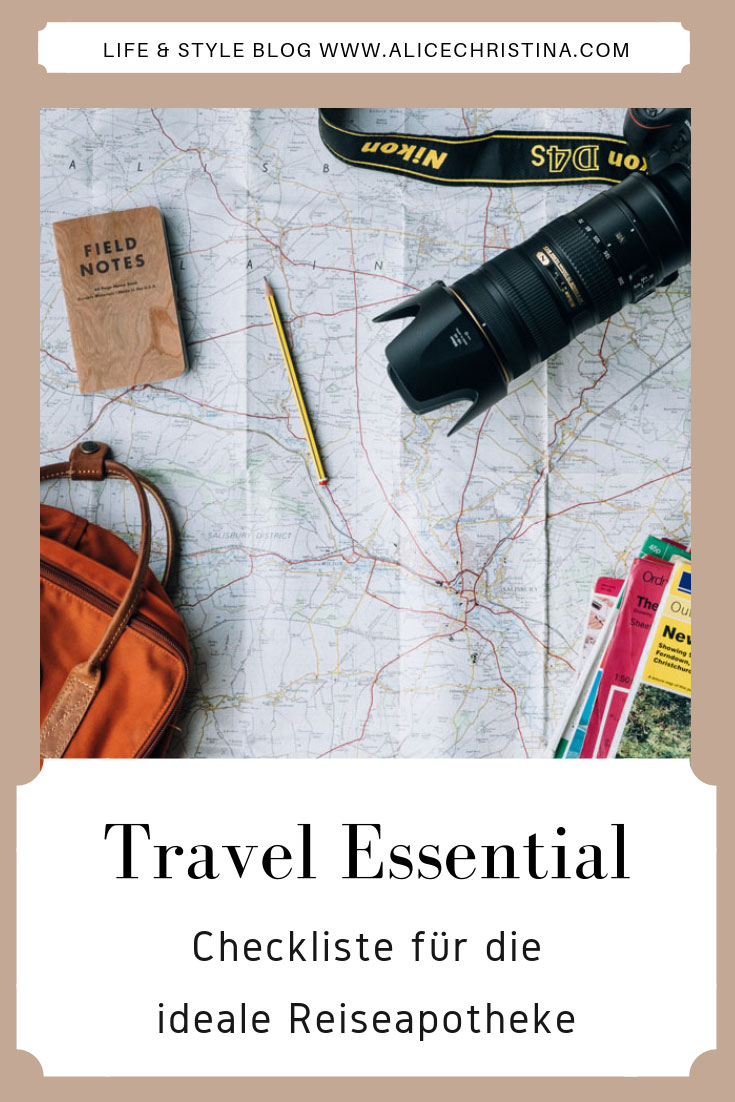 Freebie Checkliste für die ideale Reiseapotheke