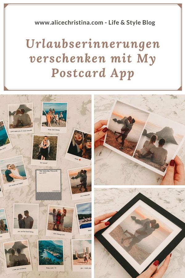 Urlaubserinnerungen verschenken mit My Postcard App - die Postkarten App
