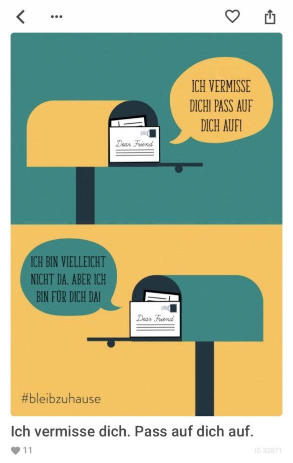 Ermutigungskarten verschicken mit der MyPostcardApp