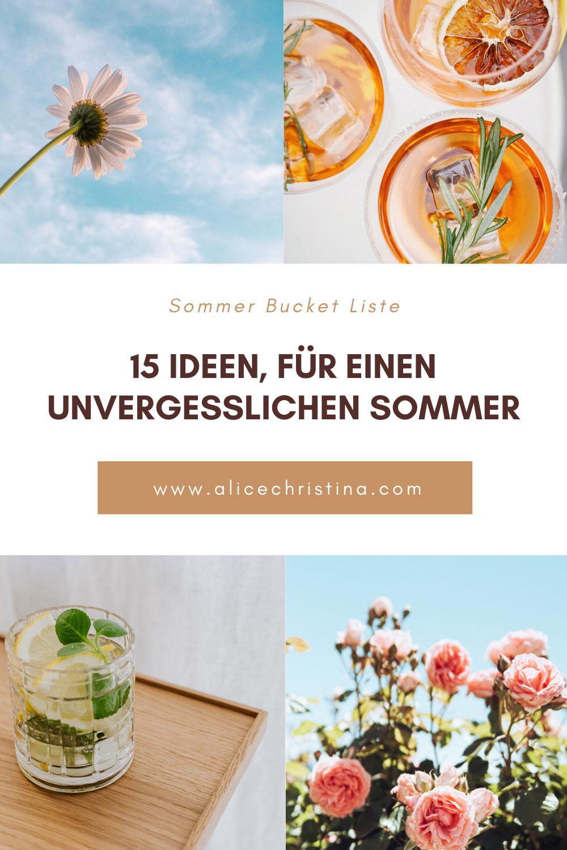 Sommer Bucket Liste: 15 Ideen, für einen unvergesslichen Sommer
