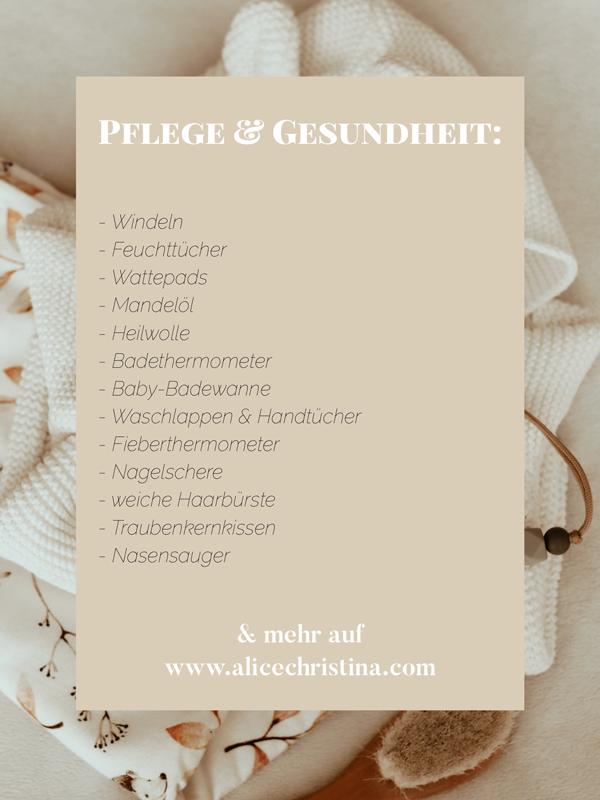 Baby Erstausstattung Liste - Das sind meine Must Haves